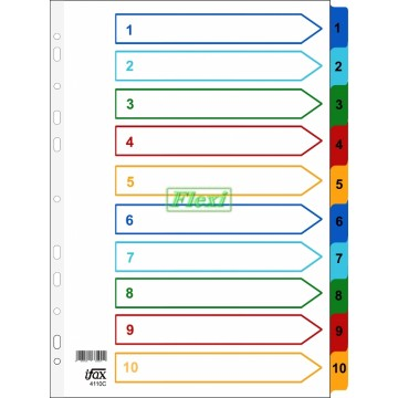 Divider Colour PP - 1-10