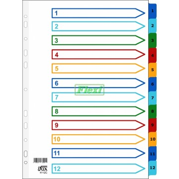 Divider Colour PP - 1-12