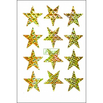Laser Star Stickers - 312