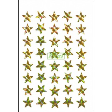 Laser Star Stickers - 540