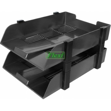 Letter Tray Plastic F4 2-Tier