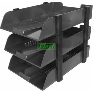 Letter Tray Plastic F4 3-Tier